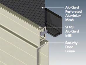 diagram installation of security screen
