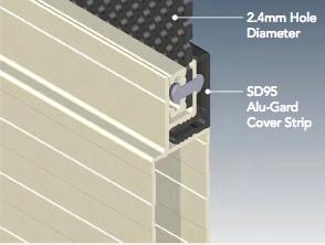 diagram depicting Alu-Gard security screen door installation